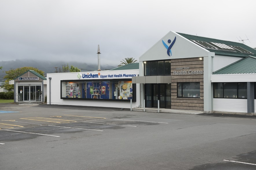 Upper Hutt Health Centre and Unichem Pharmacy Exterior